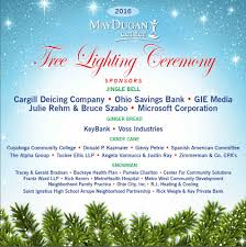 save the date may dugan center 8th annual tree lighting ceremony