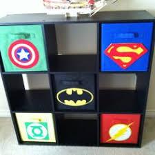 Batman Boys Bedroom Superhero Baskets All You Need Is Felt And A Little Glue