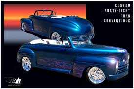 1948 ford custom convertible airbrushed flames with house of