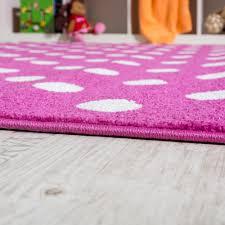 teppich rund rosa kinderteppich rosa kinderzimmer teppich spielteppich gepunktet in