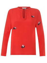 coster copenhagen coster copenhagen spot print blouse cilento