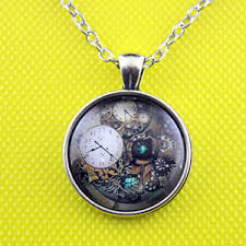 silver chain pendant necklace images Vintage cabochon glass tibet silver chain pendant necklace gift ebay jpg