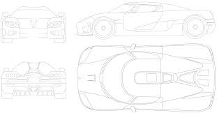 koenigsegg one drawing car blueprints koenigsegg ccxr blueprints vector drawings