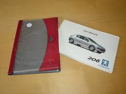 peugeot 206 owners handbook with wallet gti 3 door 5 door u0026 vans