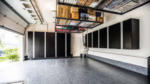 garage floor designs garage epoxy flooring cabinet u0026 overhead storage rack