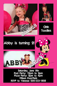 minnie mouse birthday invitation all colors
