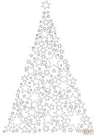 christmas tree made of stars coloring page free printable