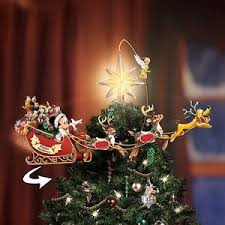 christmas tree topper bradford illuminating rotating disney christmas tree topper mickey