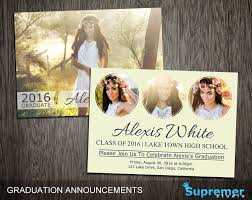 make your own graduation announcements templates make your own graduation invitations free plus