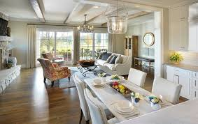 American Farmhouse KitchenFamily Room Country Family - Country family rooms