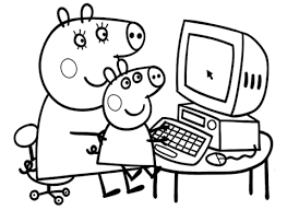 peppa mummy coloring free printable coloring pages