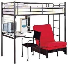 Black Futon Bunk Bed Futon Bunk Bed Bedroom Furniture Samba Futon Matte Black