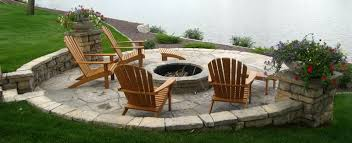 Backyard Stone Fire Pit by Lakeside Stone Firepit And Stairs Close Up Of Firepit Using