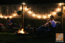 Backyard String Lighting Ideas Decorating Backyard With Lights Coryc Me
