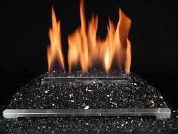 Gas Logs For Fireplace Ventless - ventless gas log fireplace with black fire glass logs crystals