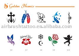 fashion female and have fun tattoos stencils