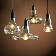 Antique Pendant Lights Retro Industrial Glass Pendant Light Vintage Smoky Glass