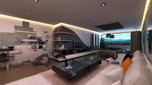 treadmill in living room marvelous modern living gym room design with white couch combined