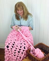 full tutorial how to knit the warmest and bulkiest blanket ever