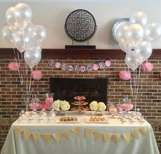 eat with grace pink and grey tea party themed baby shower