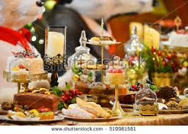 New Year Dinner Decorations dinner table settingchristmas holiday decorations year stock photo