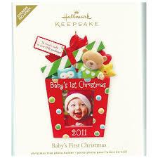 amazon com qxg4199 baby u0027s first christmas photo holder 2011