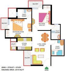 2bhk House Plans Nimbus Hyde Park Sector 78 Noida