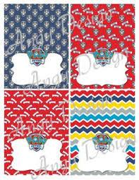 spring sale 50 paw patrol food tent cards printathomedesign