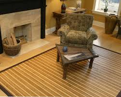 Wood Area Rugs Decor Sophisticated Home Interior Decor With Chic Natural Bamboo