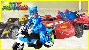 power wheels compilation pj masks rex spiderman chase