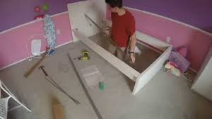 ikea malm twin bed assembly time lapse youtube