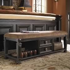 pulaski brookfield bed end bench in ebony 993400