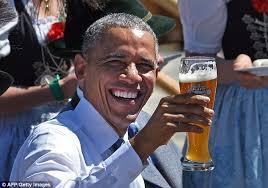 Obama Beer Meme - barack obama enjoys a traditional bavarian welcome for g7 summit