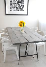 Diy Wood Dining Table Top by 11 Diy Dining Tables To Dine In Style Diy Dining Table Diy Wood