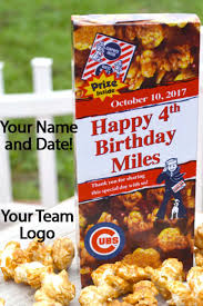 personalized cracker jacks 100 baseball party ideas by a professional party planner
