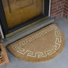 Greek Key Home Decor by Flooring Greek Key Border Half Round Coir Doormat Outdoor With