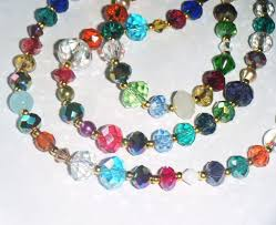 coloured crystal necklace images 75 best dainty crystal bead necklaces images bead jpg