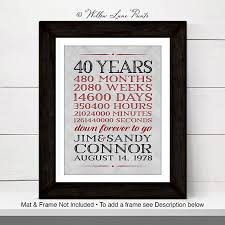 40th wedding anniversary gifts 40th anniversary gift for parents 40 year anniversary 40th