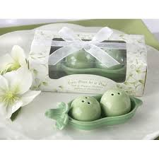 Two Peas In A Pod Ornament Kate Aspen Two Peas In A Pod Ceramic Salt And Pepper Shakers In