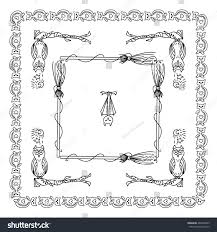 vector halloween elements design square rectangle stock vector