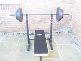 everlast weights bench and weights in easingwold north