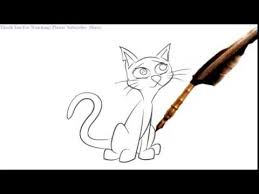 how to draw a skinny cat cartoon youtube