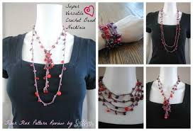 crochet beads necklace pattern images Super versatile crochet bead necklace cre8tion crochet jpg