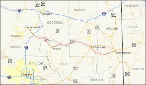 State Map Of Arizona by Arizona State Route 260 Wikipedia