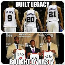 Spurs Meme - spurs built legacy meme