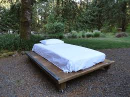 Platform Beds Twin by Rustic Wood And Steel Platform Bed Twin Size Mt Hood Wood Works