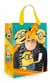 minion gift bags despicable me minion large gift bag co uk office products