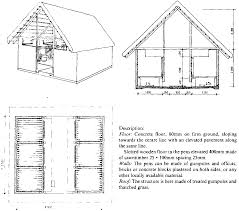 farm structures ch10 animal housing cattle housing figure 10 8 calf shed