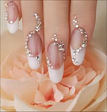nail art designs luxury nail design crystals for wedding for long