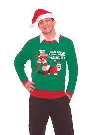 santa has been naughty christmas sweater times pinterest